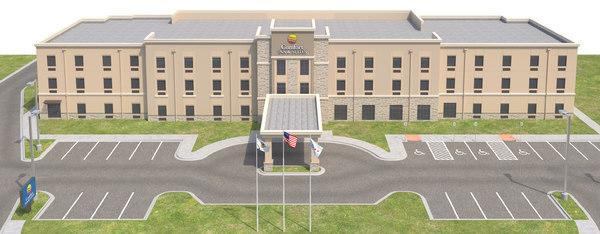 comfort inn suites site model