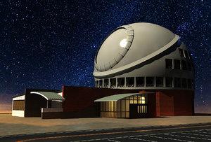 tmt radio telescope 3D model