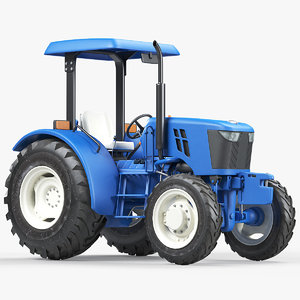 3D model utility compact tractor