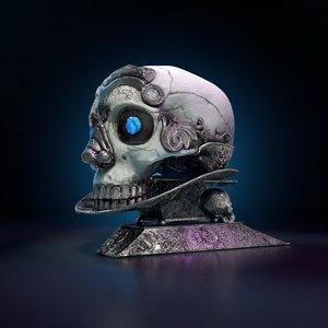 3D kapala human skull