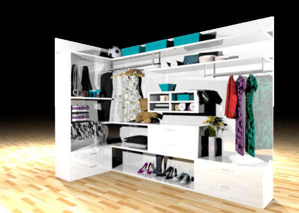 3D closet cupboard model