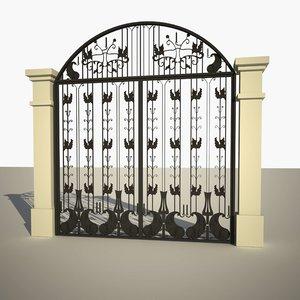 3D metallic gate model