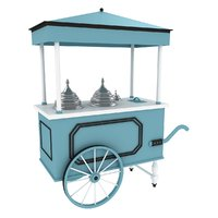 3D model cart ice cream