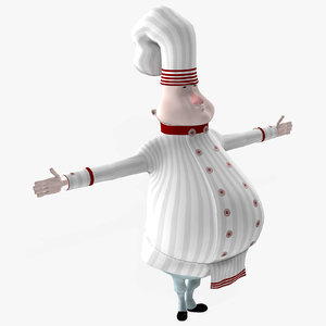 3D cartoon chef character