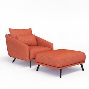 3D armchair stua costura model