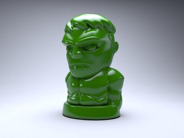 3D hulk chip art
