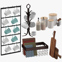 kitchen decors 3D model