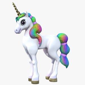 3D cartoon pony pbr