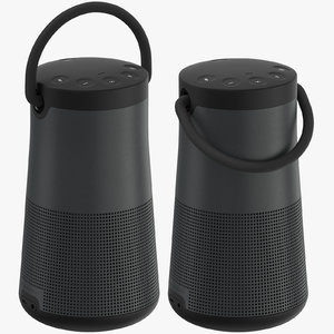 generic bluetooth speakers 02 3D model