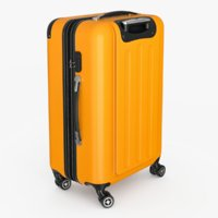 hardside spinner luggage ar 3D model