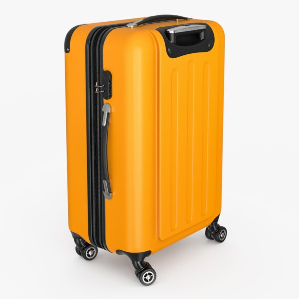 hardside spinner luggage ar 3D model