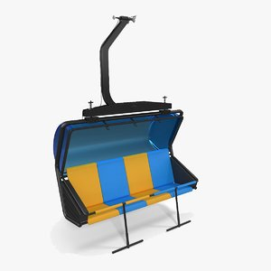 3D generic chairlift seat model