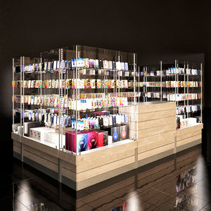 3D store equipment retail model