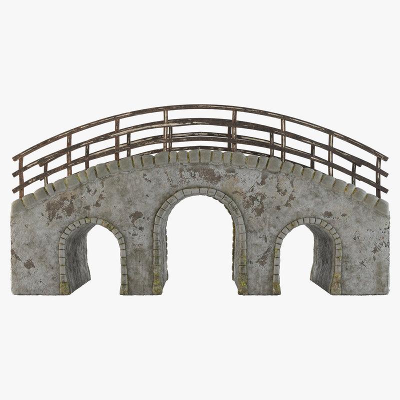 old stone bridge model
