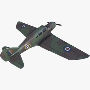 spartan 7w airplane raf 3D model