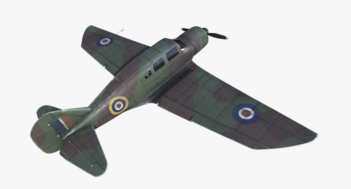 spartan 7w airplane raf 3D model