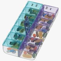 3D weekly pill organizer