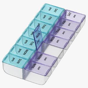 weekly pill organizer 3D model