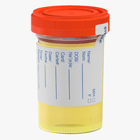 urine sample 3D model