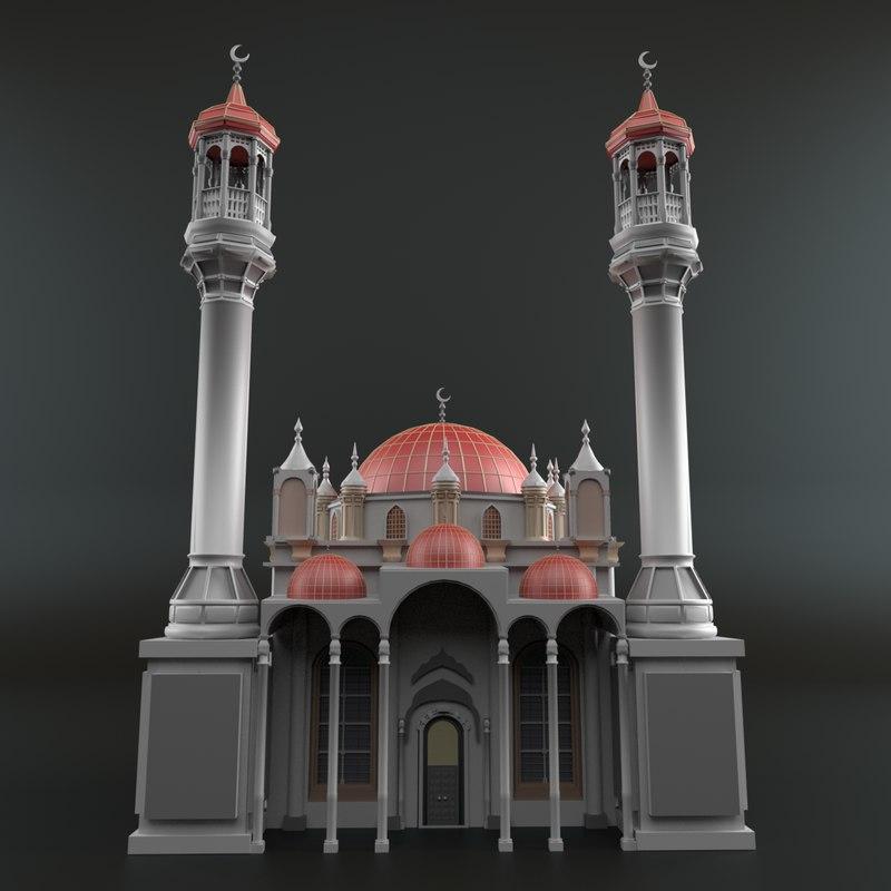 3D mosque cartoon