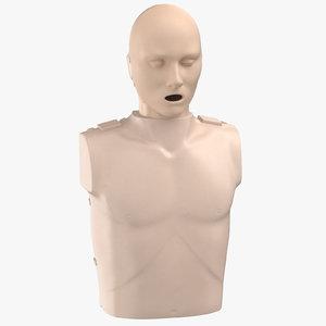 3D model cpr dummy