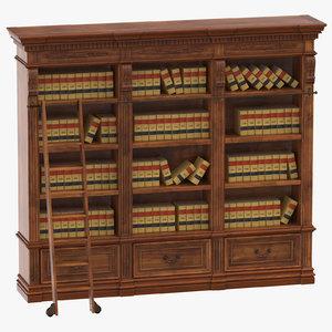 shelf law books model