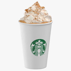3D model pumpkin spice latte 02