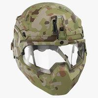 3D facial armor helmet