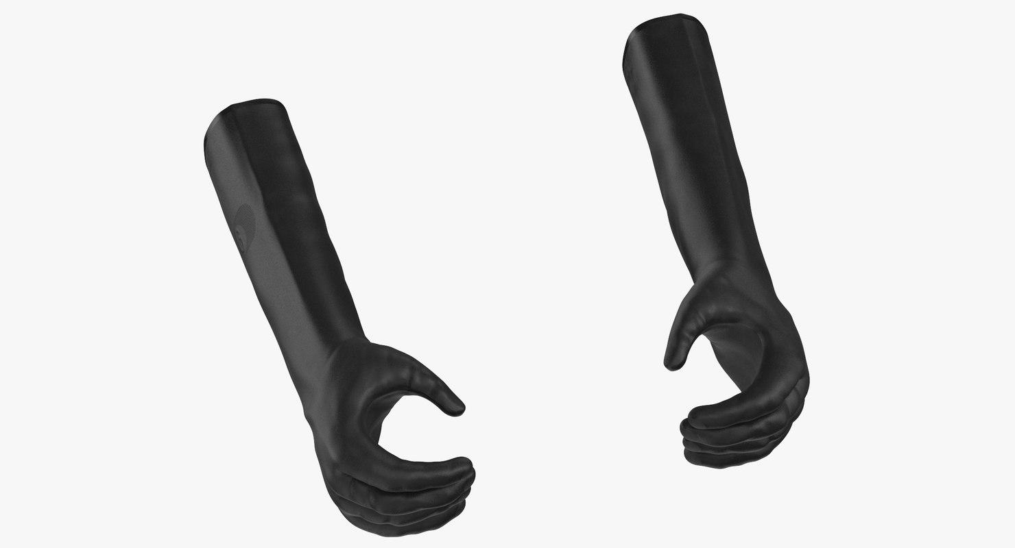 large black rubber lab 3D model