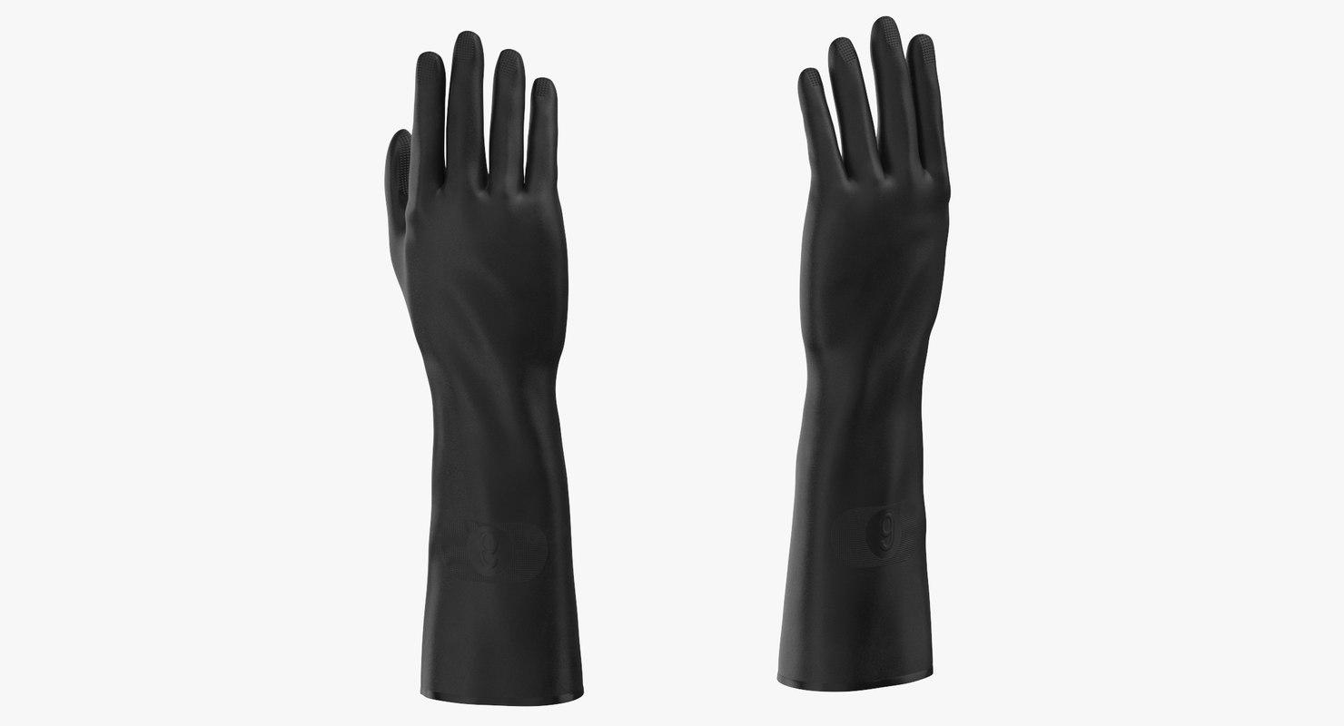 large black rubber lab 3D