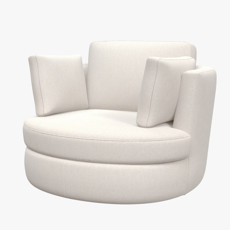 swivel chair clarissa armchair 3D model