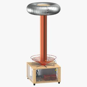 tesla coil 02 3D model