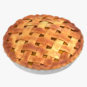 3D model apple pie 02