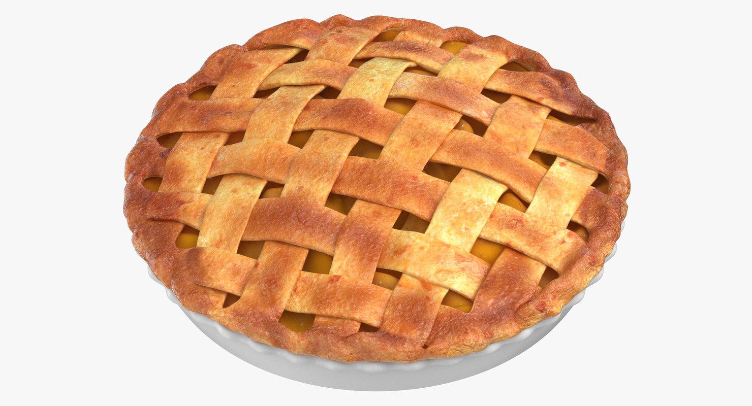 3D model apple pie 02