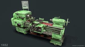 3D 1k62 lathe pbr -