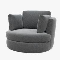 swivel chair clarissa eichholtz 3D model