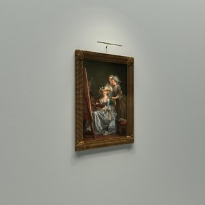 3D old picture frame painting