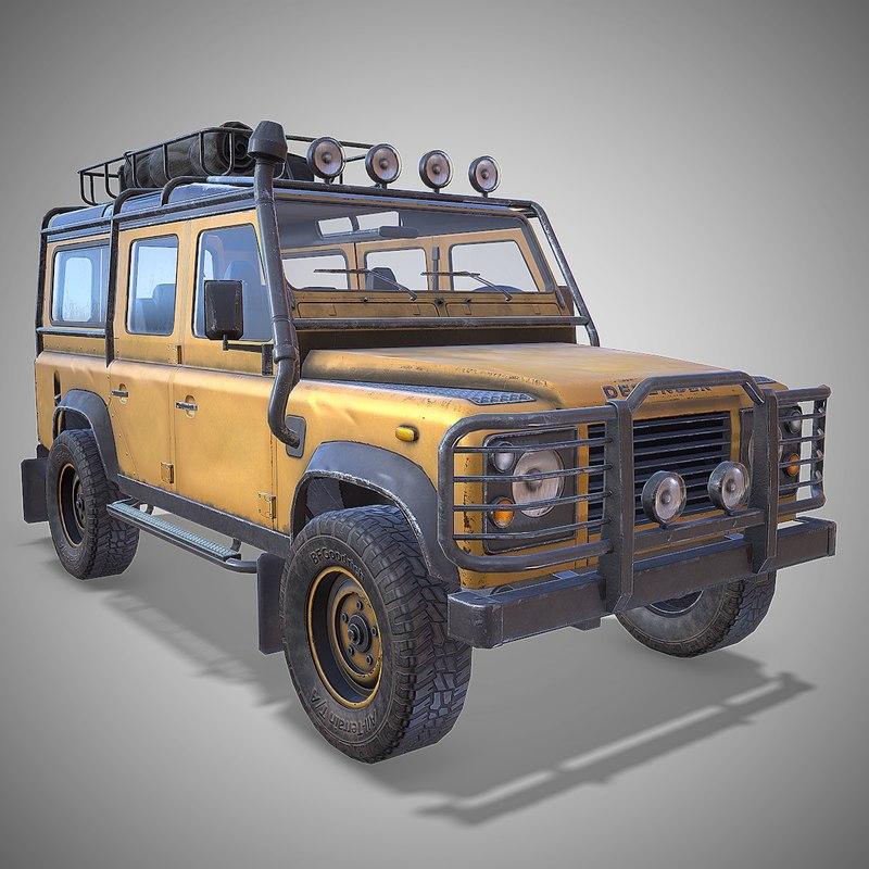 Land Rover Defender 110 >> Land Rover Defender 110 3d Model Turbosquid 1334755