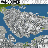 vancouver canada town 3D