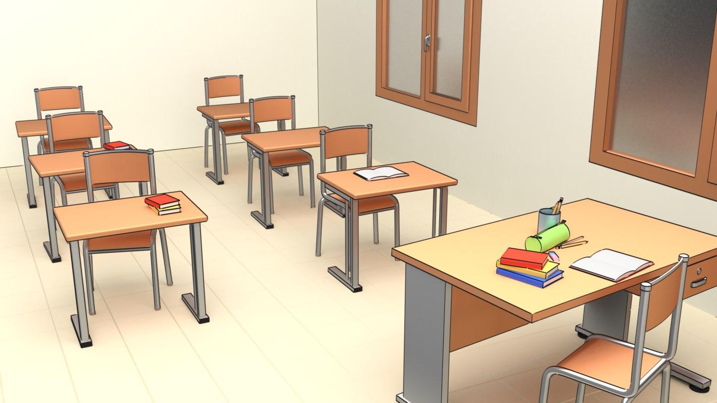 3D pack assets school