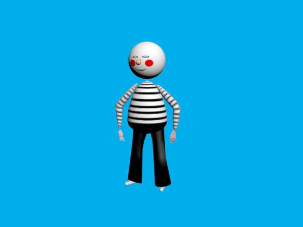 3D model sailor animation