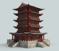 chinese building 3D