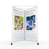 collapsible movable exhibition panel 3D model