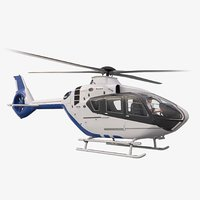 airbus helicopter h135 pilot 3D model