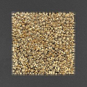 3D deco frame gold flower