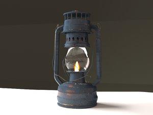 3D rustic gas lamp