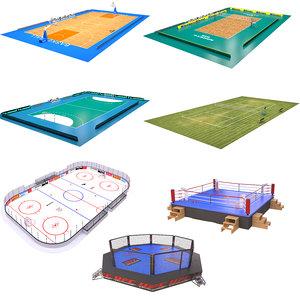 sport arenas 3 3D model