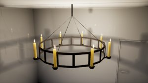 furniture october ceiling lamp 3D model