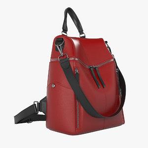 uto women red backpack model
