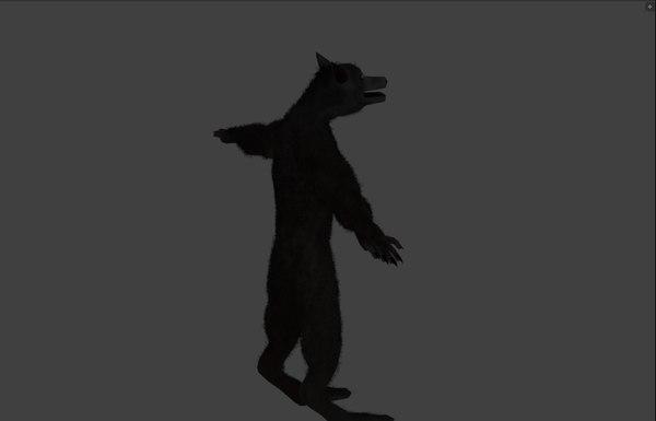 3D werewolf wolf